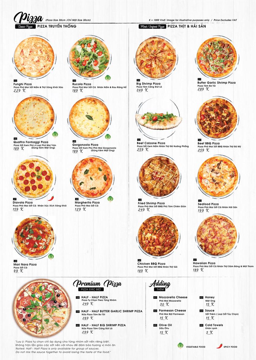 Menu Buzza Pizza – Nguyễn Trung Trực 4