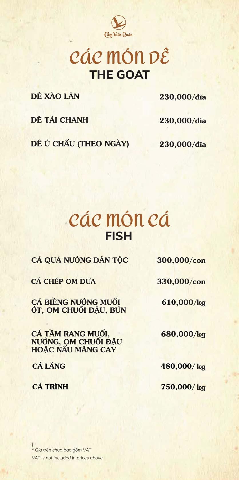 Menu Cầm Viên Quán - Nguyễn Văn Lộc 12