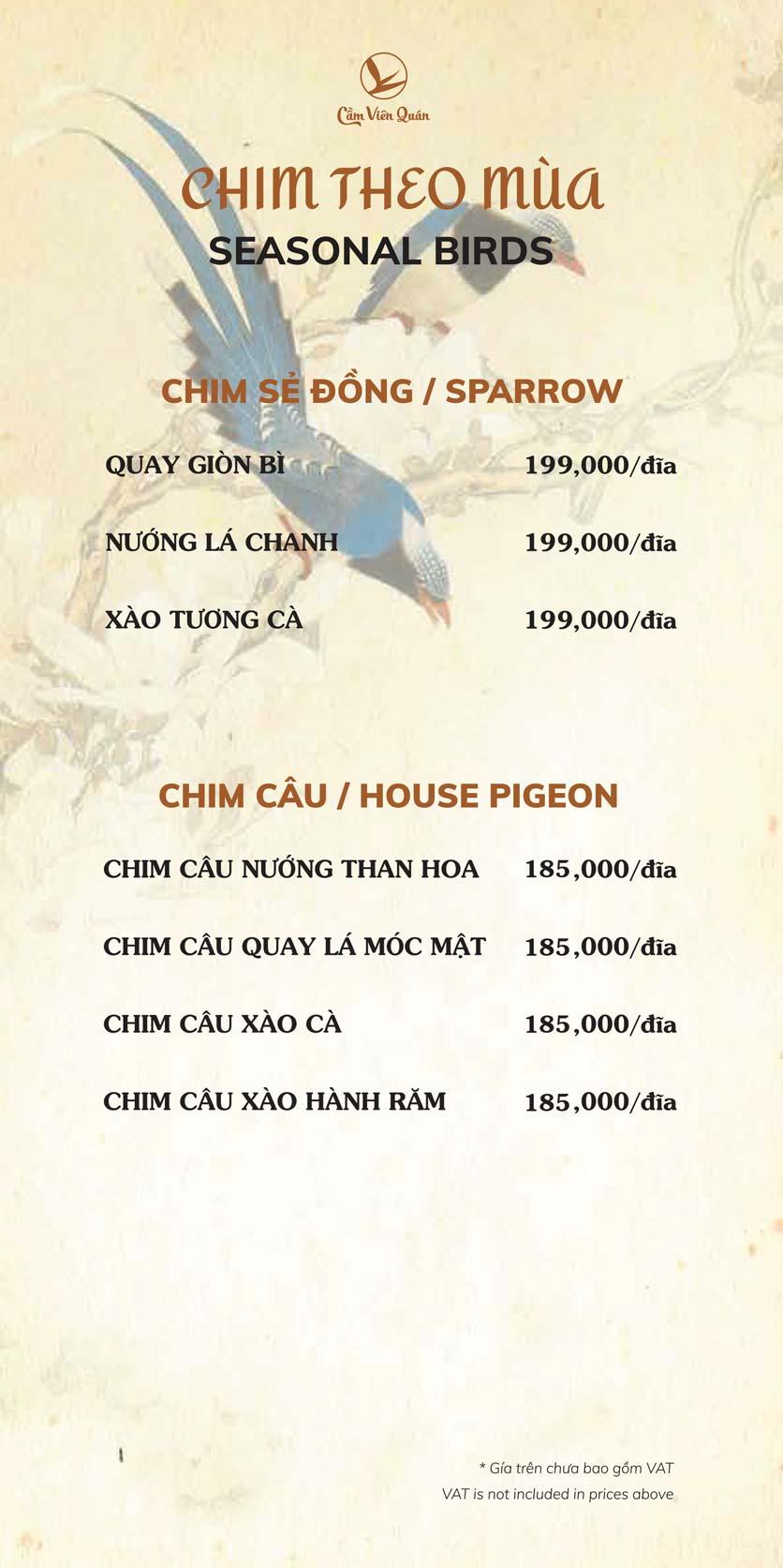 Menu Cầm Viên Quán - Nguyễn Văn Lộc 8