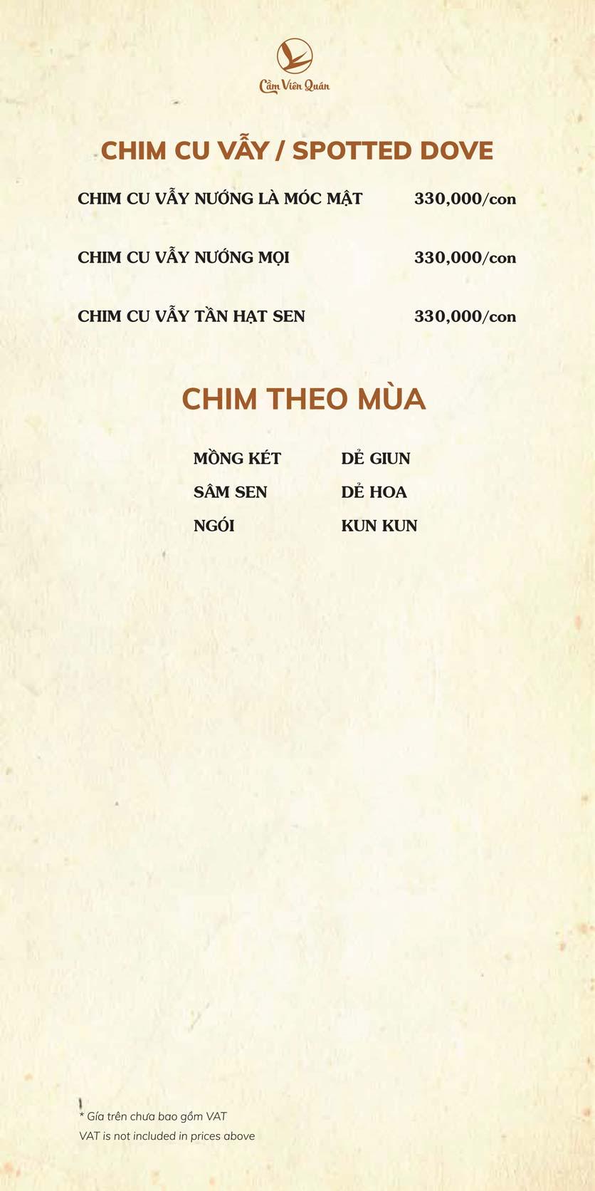 Menu Cầm Viên Quán - Nguyễn Văn Lộc 9