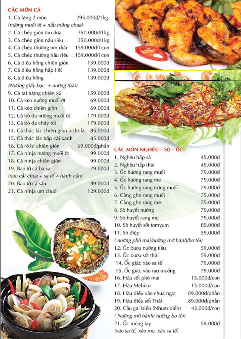 Menu Cánh Đồng Quán - Phạm Văn Đồng 3