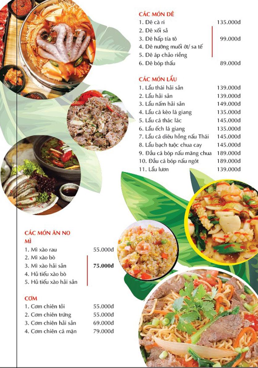 Menu Cánh Đồng Quán - Phạm Văn Đồng 6