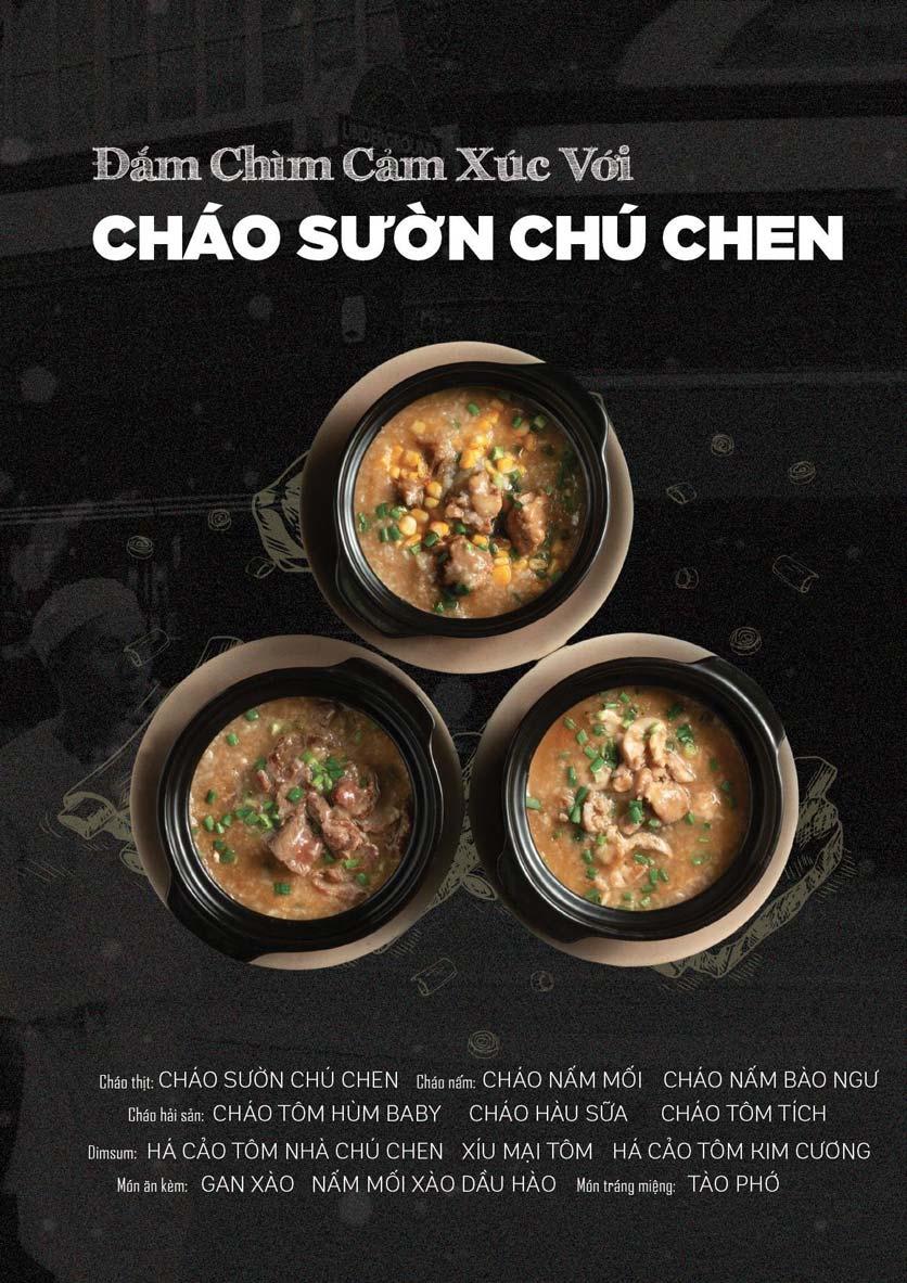 Menu Cháo Sườn Chú Chen - Nguyễn Trãi 1