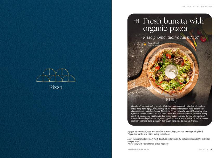 Menu ChayA Pizza - Thi Sách 21