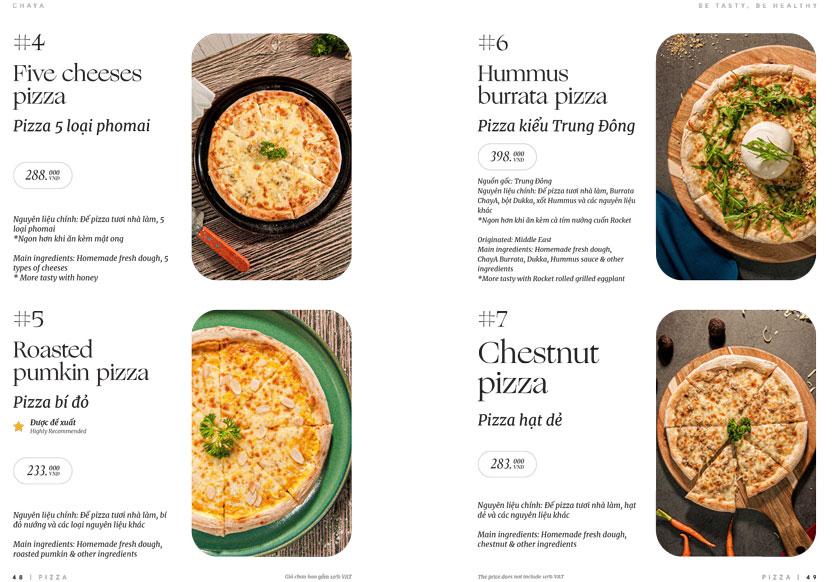 Menu ChayA Pizza - Thi Sách 23