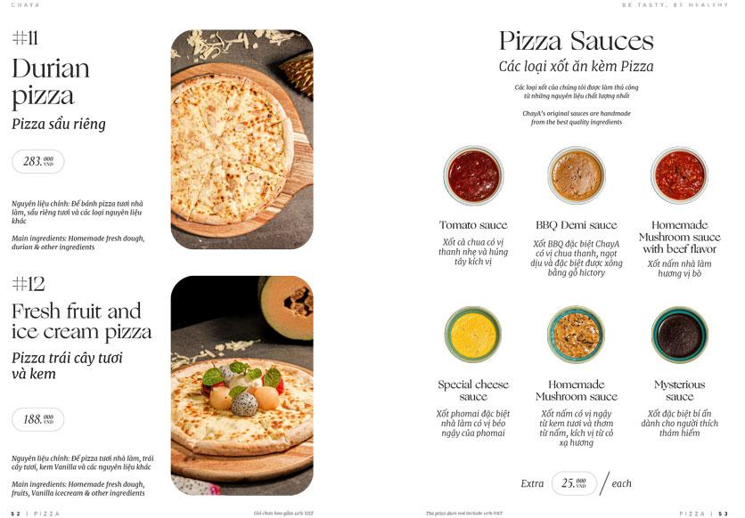 Menu ChayA Pizza - Thi Sách 25