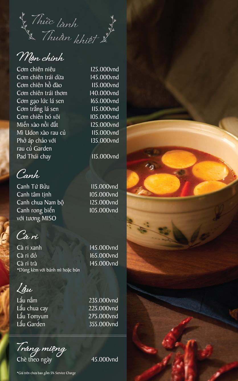 Menu Chay Garden Vegetarian Restaurant & Coffee – Võ Văn Tần 5
