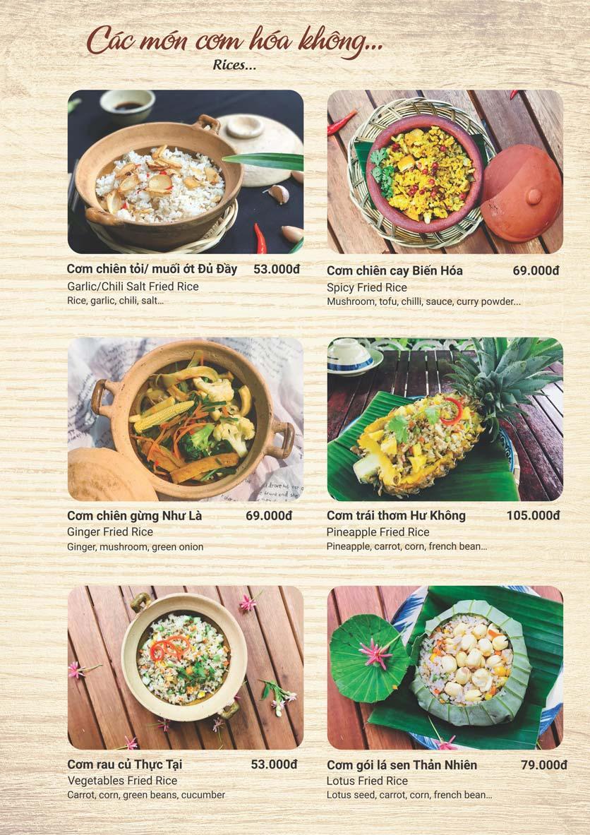 Menu Phương Mai Chay Quán - Võ Thị Sáu 2