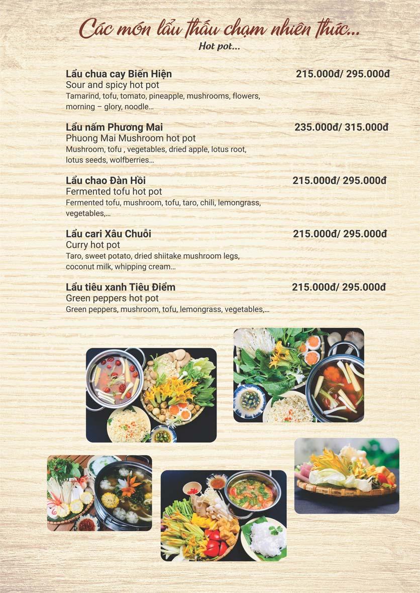 Menu Phương Mai Chay Quán - Võ Thị Sáu 6