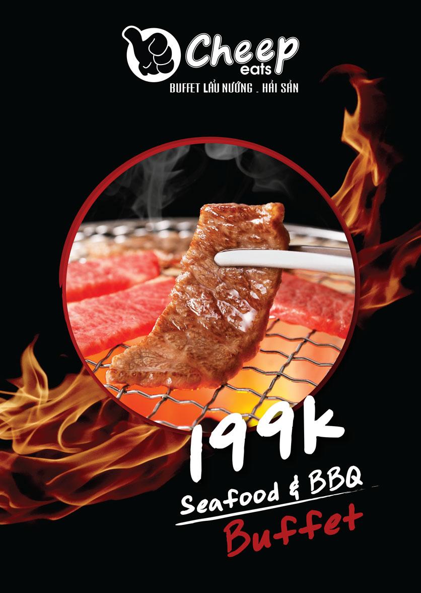 Menu Cheep Eats – Buffet lẩu nướng hải sản - Nguyên Hồng 2