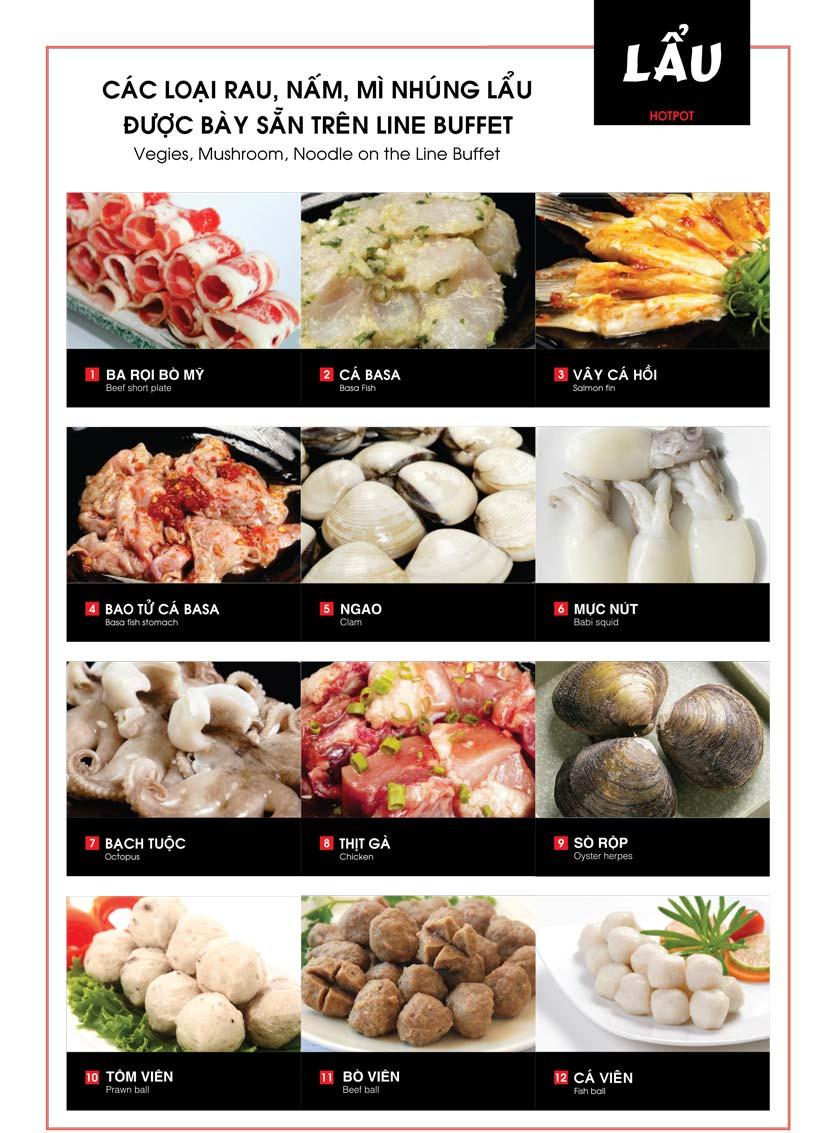 Menu Cheep Eats – Buffet lẩu nướng hải sản - Nguyên Hồng 13