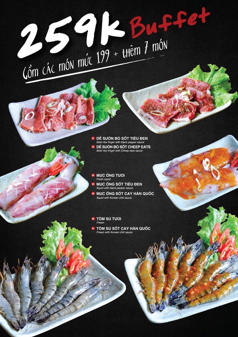 Menu Cheep Eats – Buffet lẩu nướng hải sản - Trần Phú 17