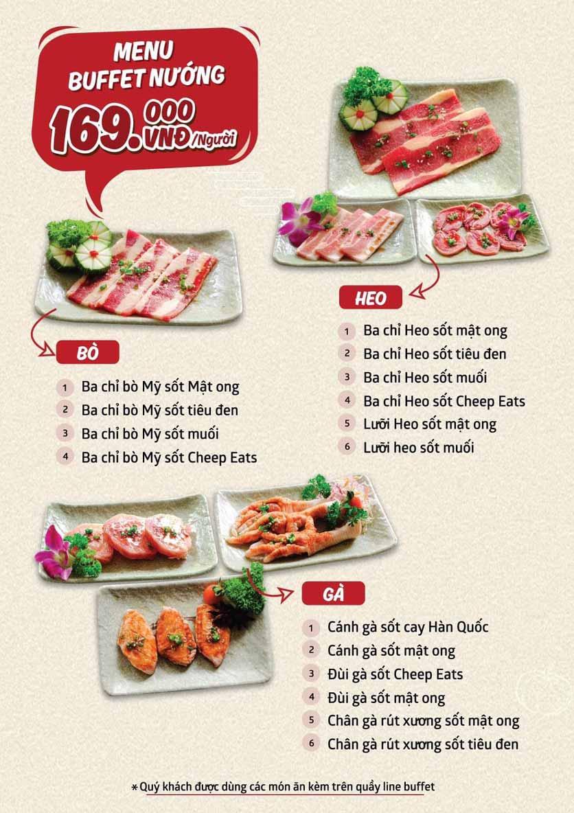 Menu Cheep Eats - Buffet nướng - lẩu - hải sản - Trần Phú 4