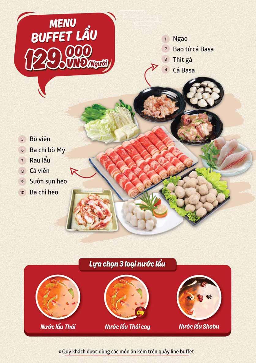 Menu Cheep Eats - Buffet nướng - lẩu - hải sản - Trần Phú 5