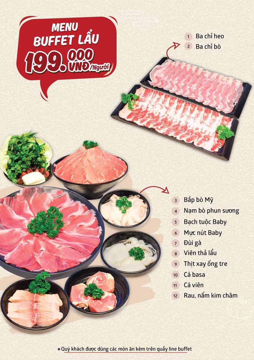 Menu Cheep Eats - Buffet nướng - lẩu - hải sản - Trần Phú 6