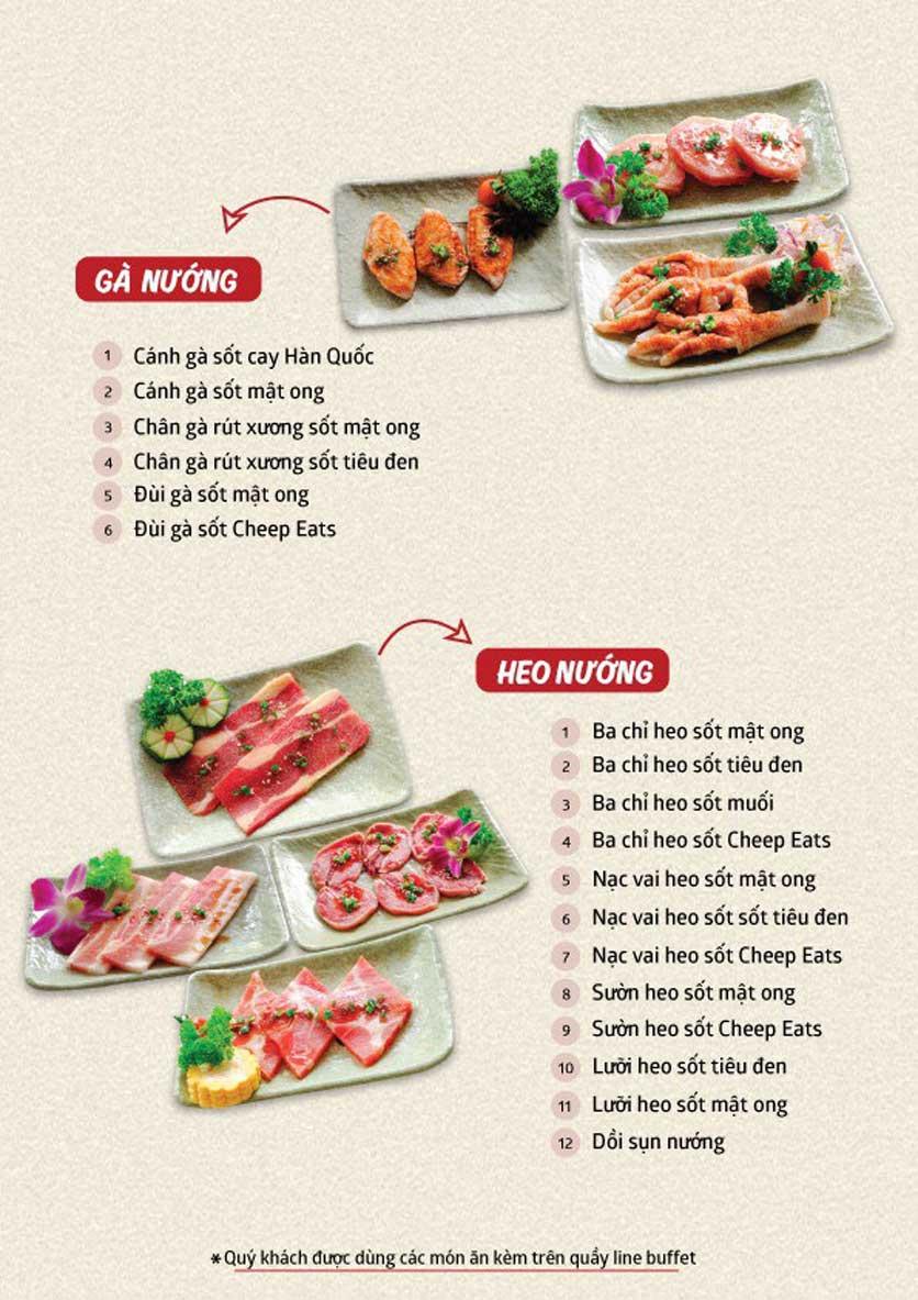 Menu Cheep Eats - Buffet nướng - lẩu - hải sản - Trần Phú 2