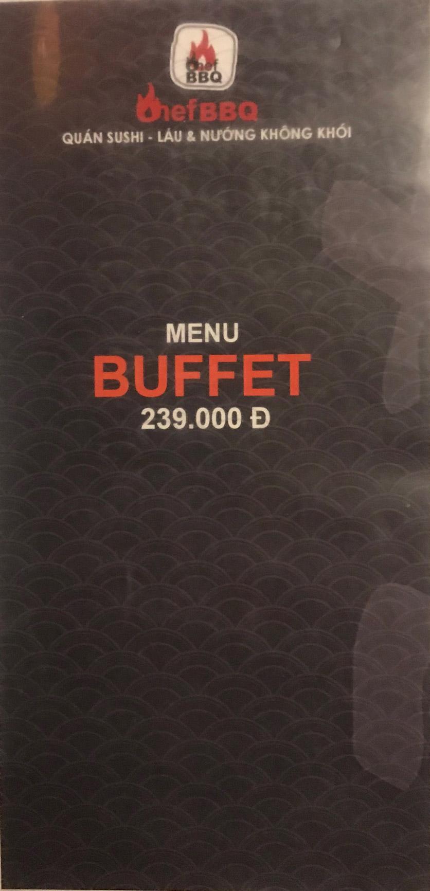 Menu Chef BBQ - Nghĩa Tân 1