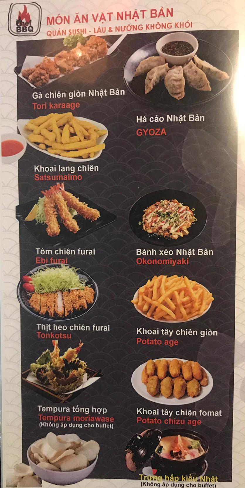 Menu Chef BBQ - Nghĩa Tân 11