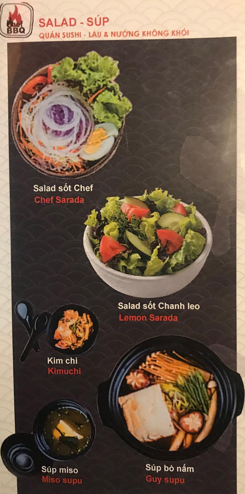 Menu Chef BBQ - Nghĩa Tân 12