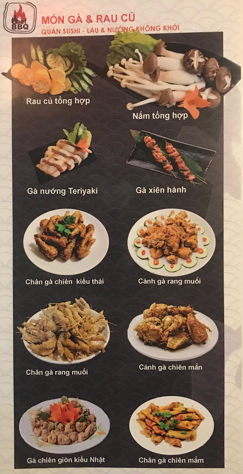 Menu Chef BBQ - Nghĩa Tân 13