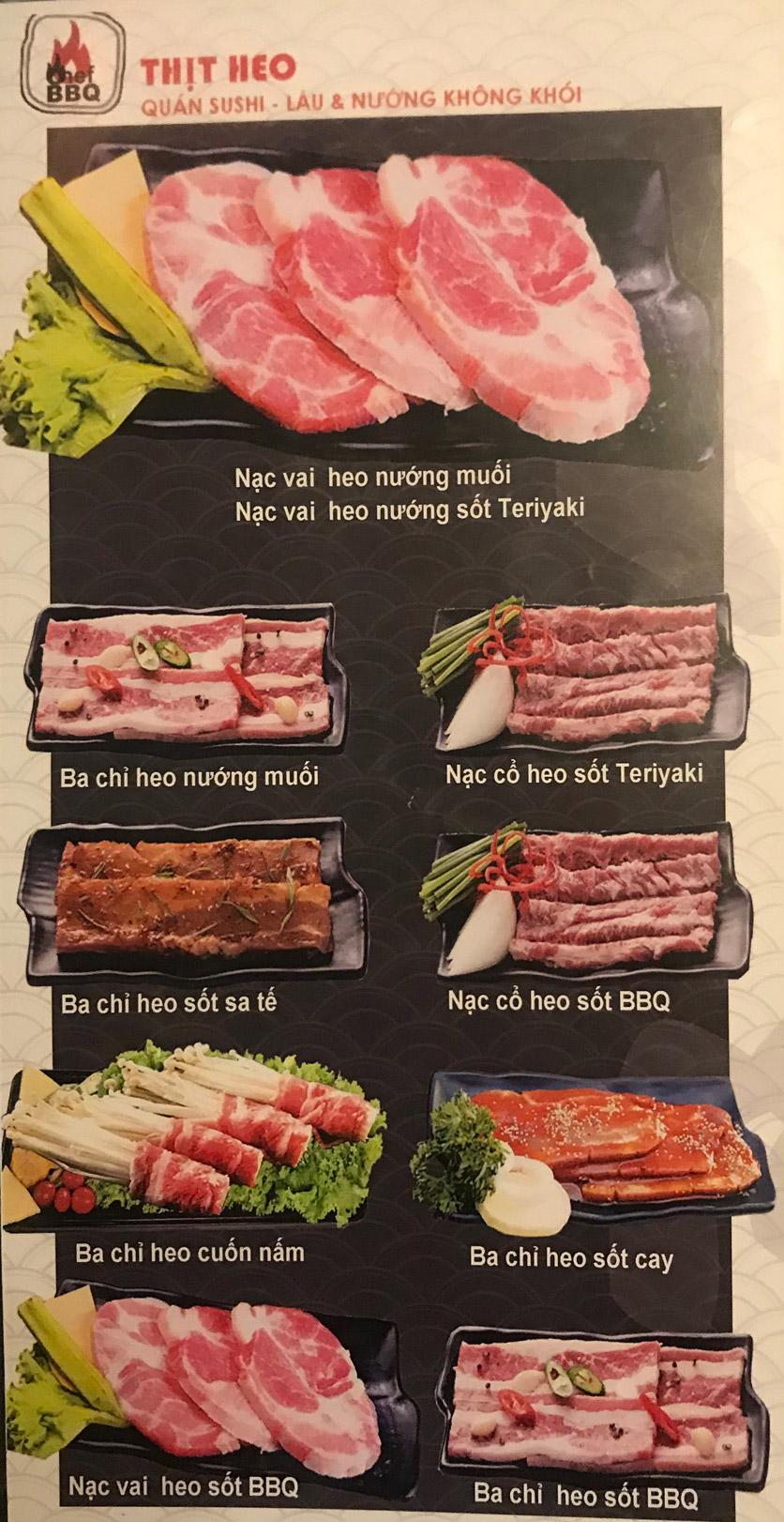 Menu Chef BBQ - Nghĩa Tân 16