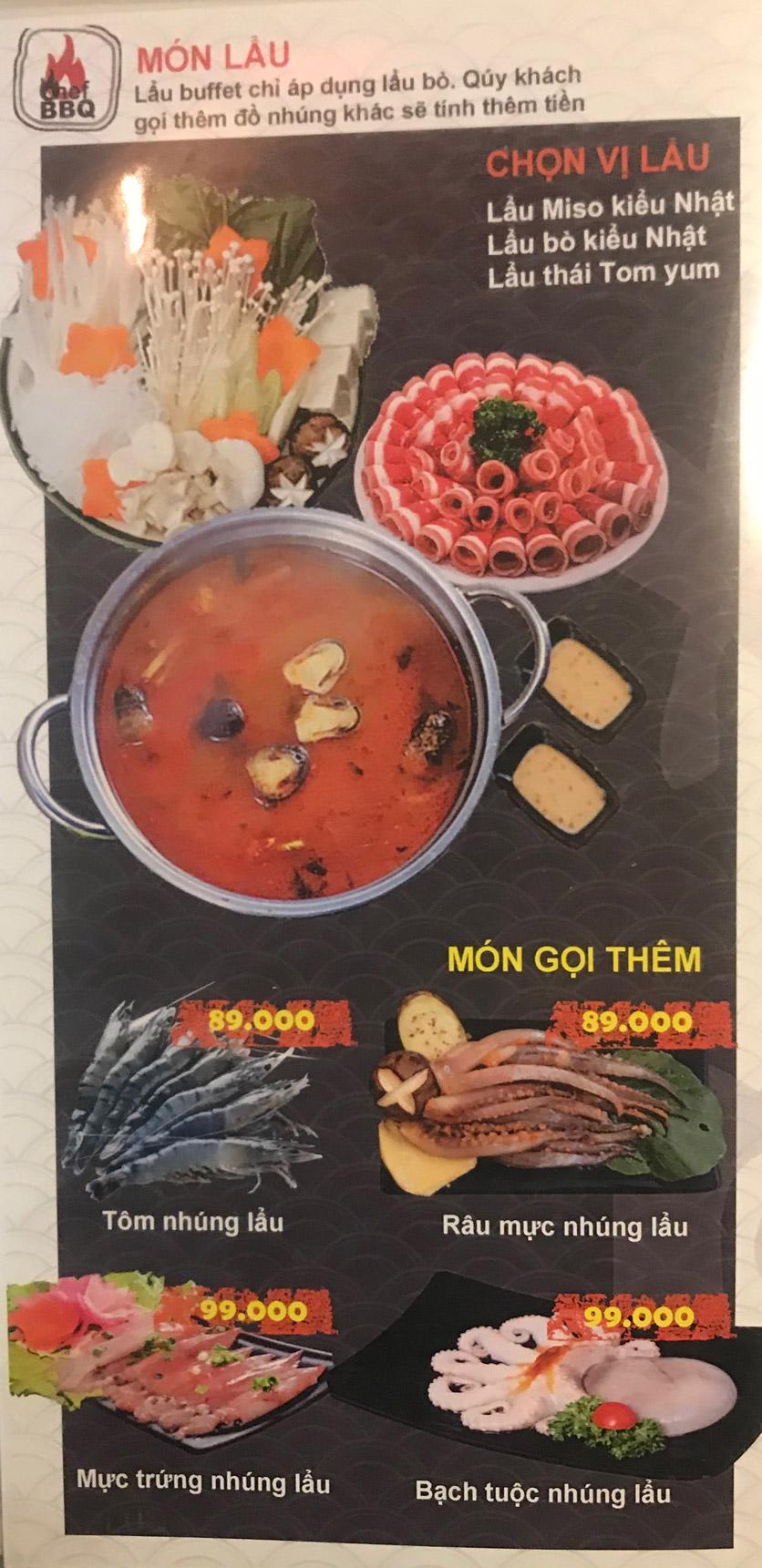 Menu Chef BBQ - Nghĩa Tân 17