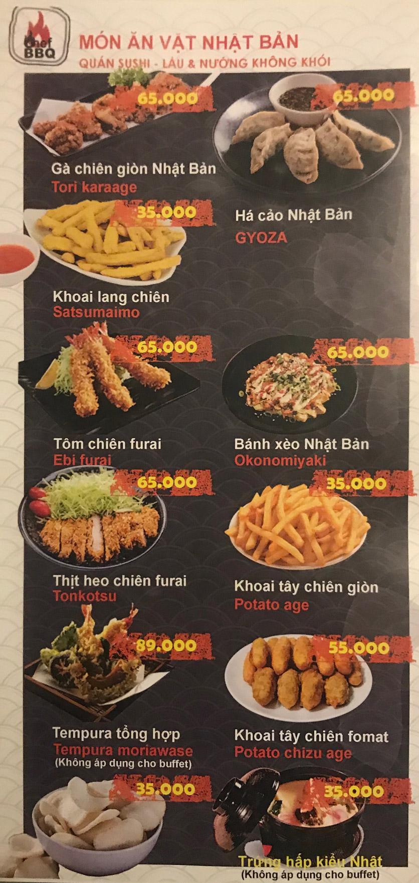 Menu Chef BBQ - Nghĩa Tân 20