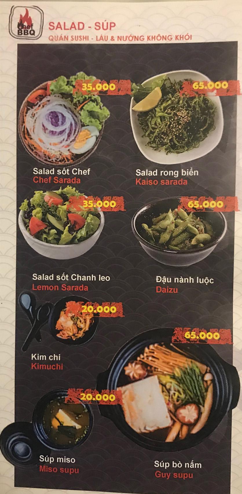 Menu Chef BBQ - Nghĩa Tân 22