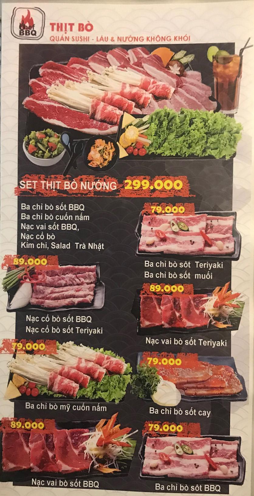 Menu Chef BBQ - Nghĩa Tân 26