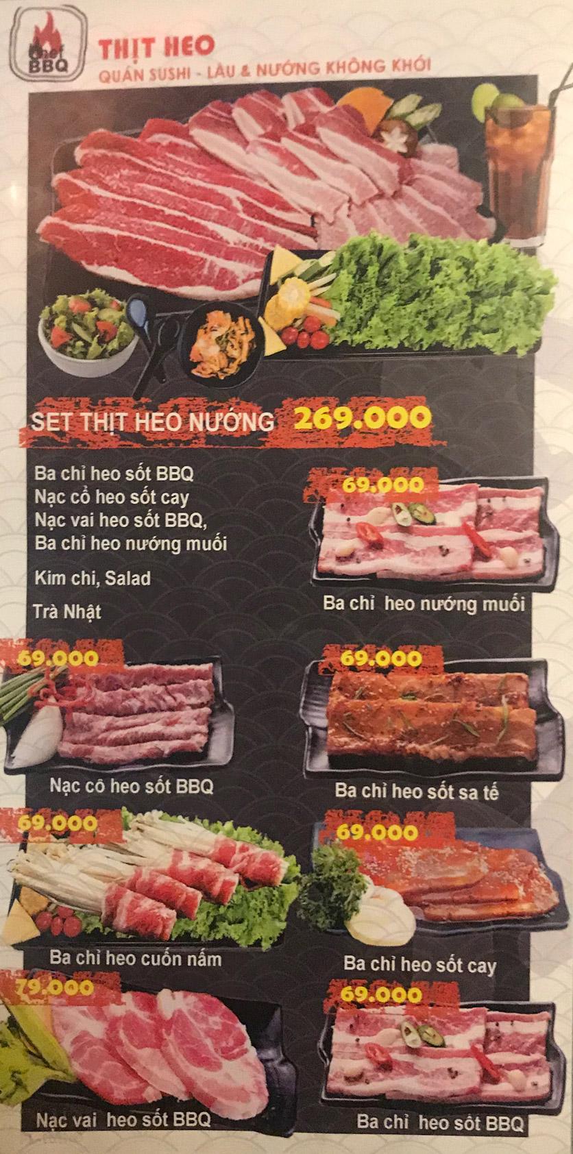 Menu Chef BBQ - Nghĩa Tân 27