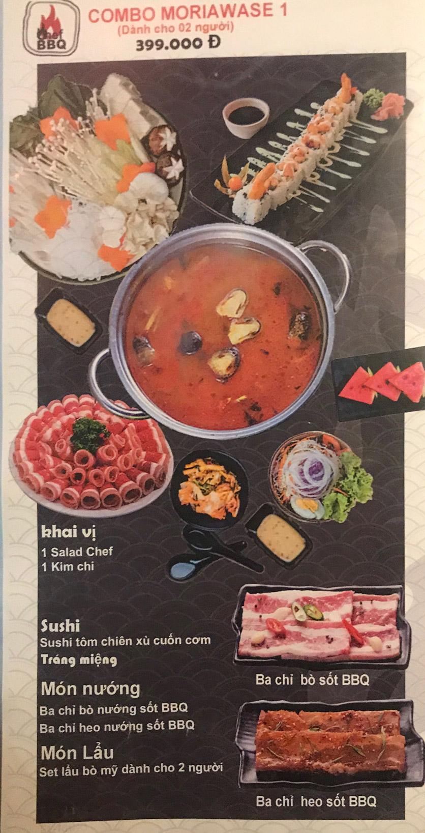 Menu Chef BBQ - Nghĩa Tân 29