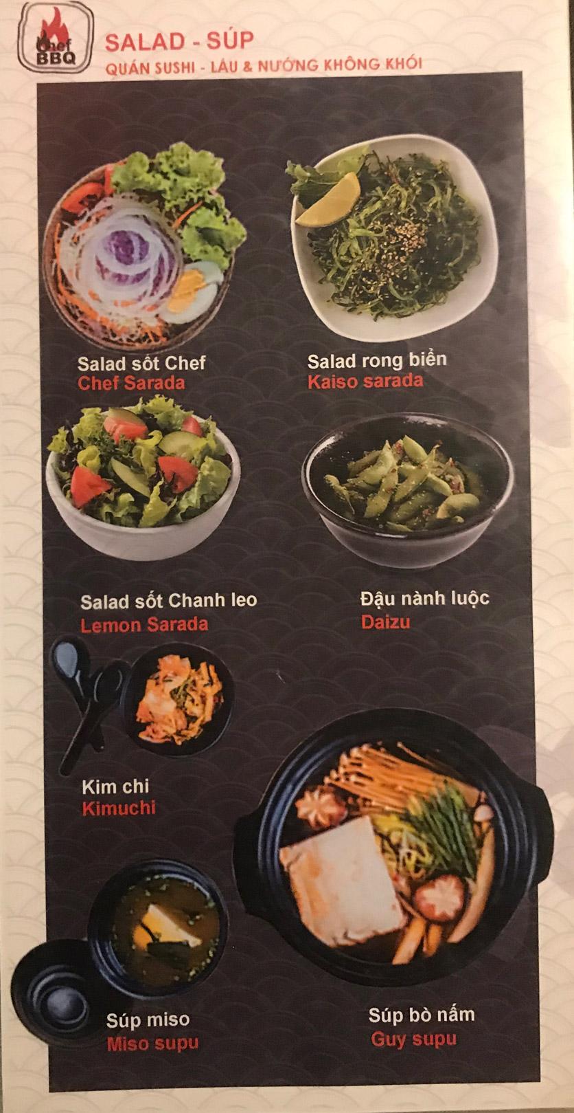 Menu Chef BBQ - Nghĩa Tân 3