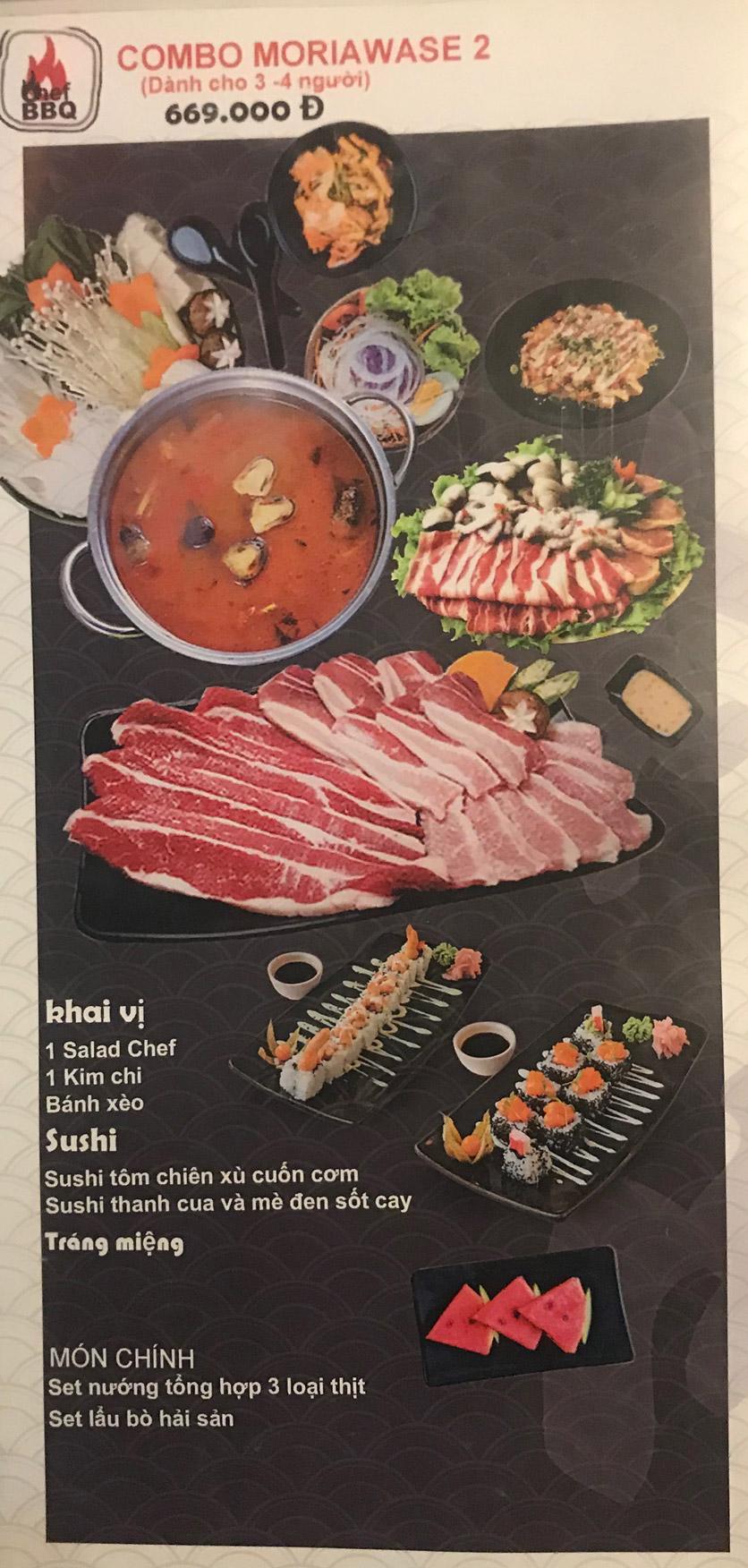Menu Chef BBQ - Nghĩa Tân 30