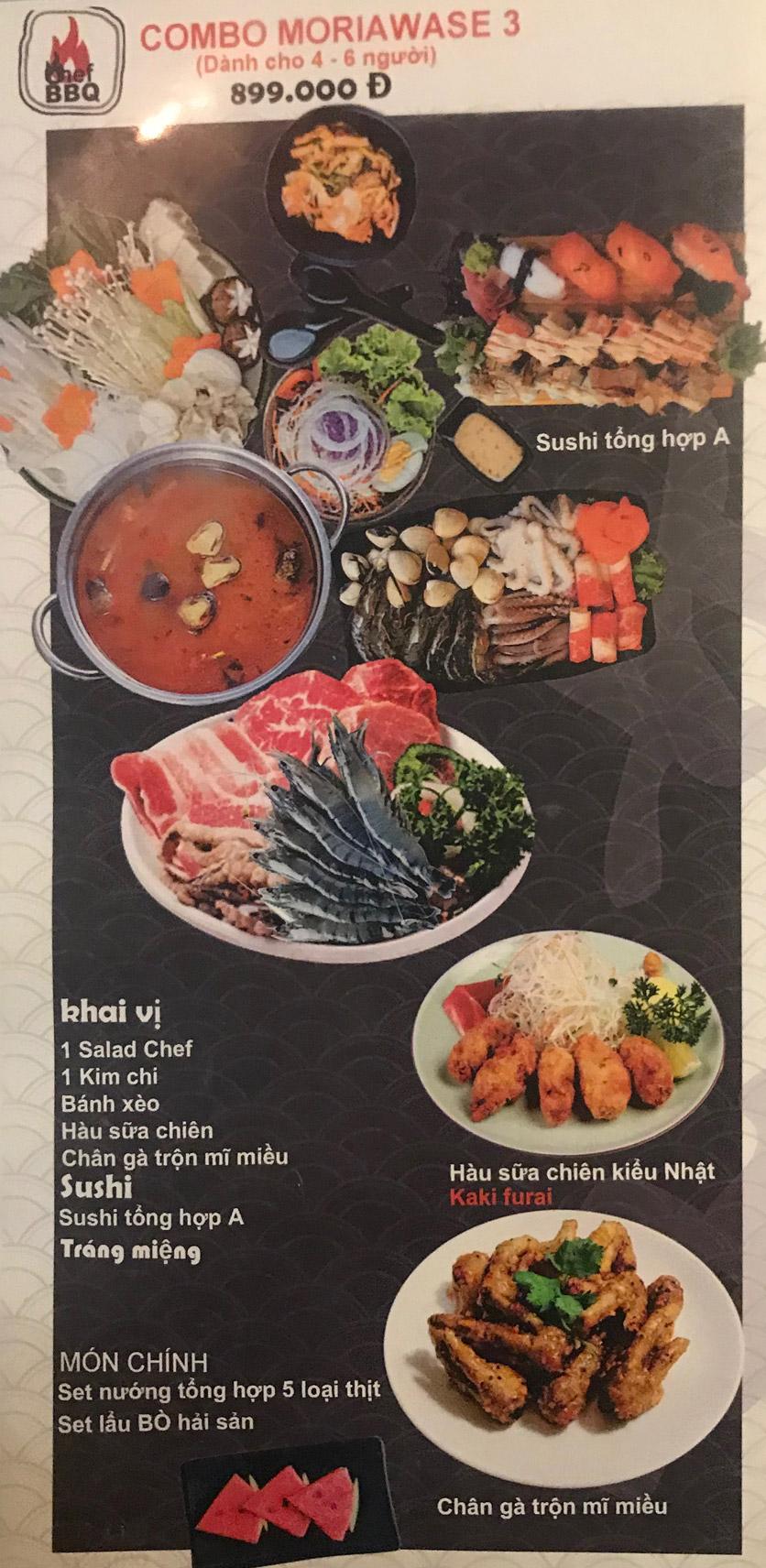 Menu Chef BBQ - Nghĩa Tân 31