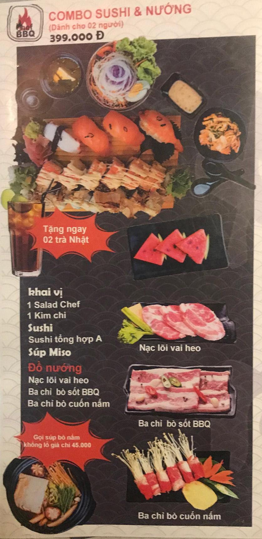 Menu Chef BBQ - Nghĩa Tân 33