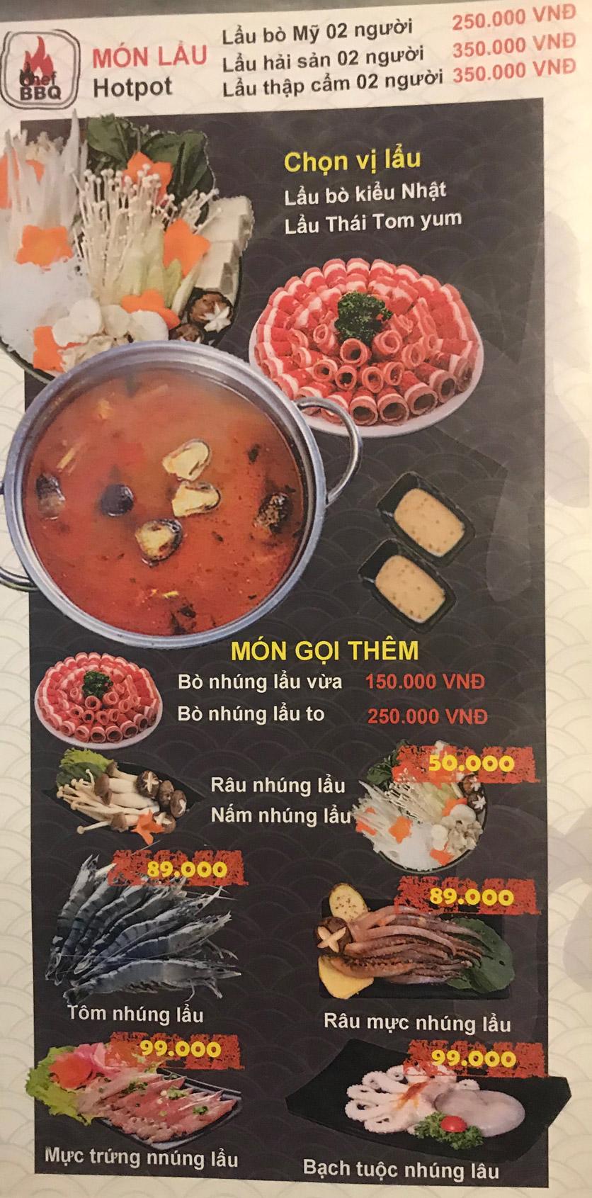 Menu Chef BBQ - Nghĩa Tân 34