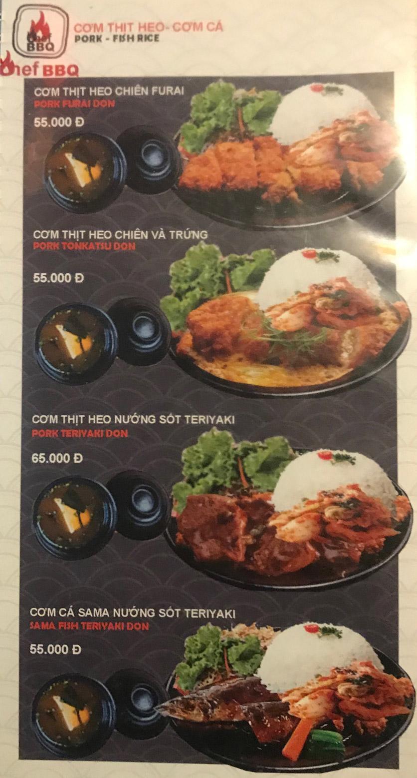 Menu Chef BBQ - Nghĩa Tân 35