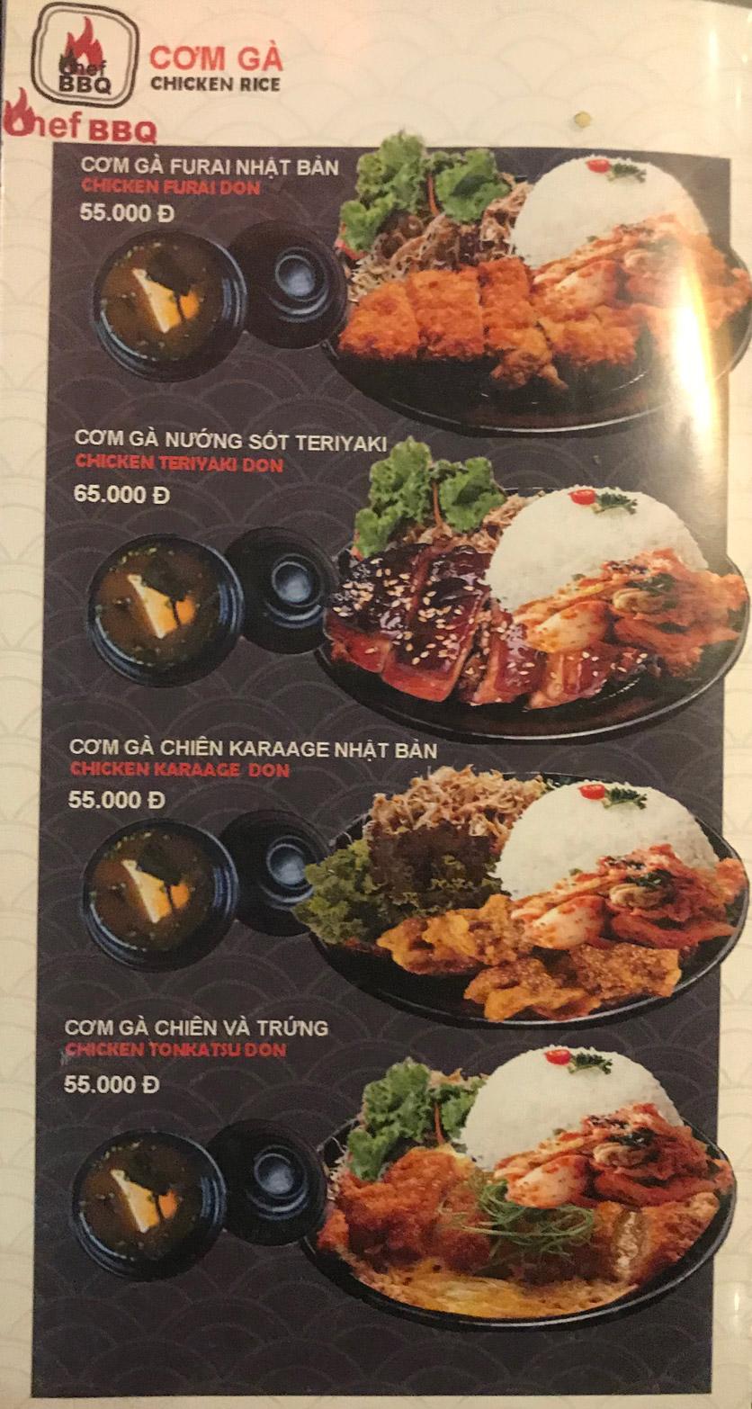 Menu Chef BBQ - Nghĩa Tân 36