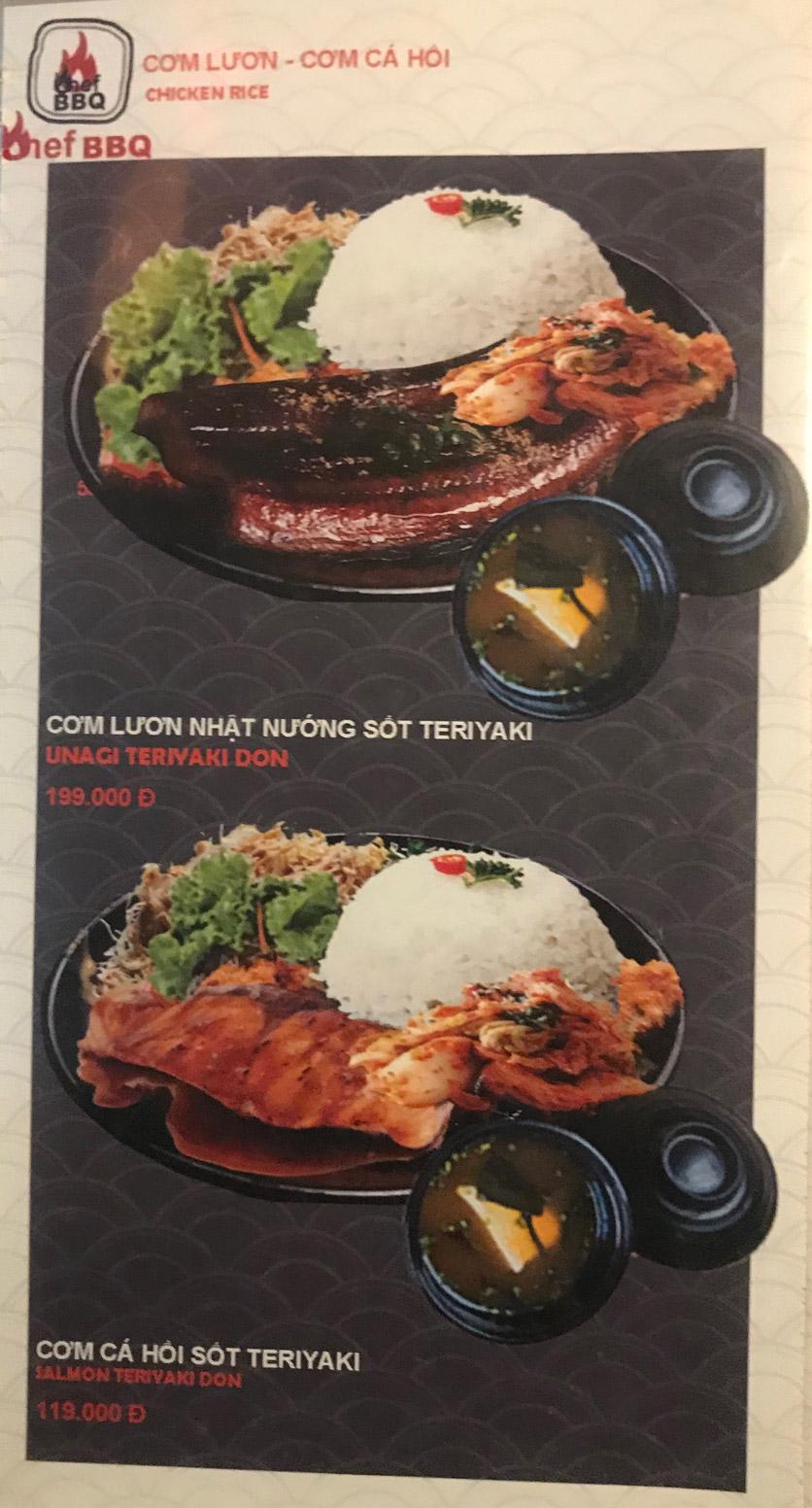 Menu Chef BBQ - Nghĩa Tân 37