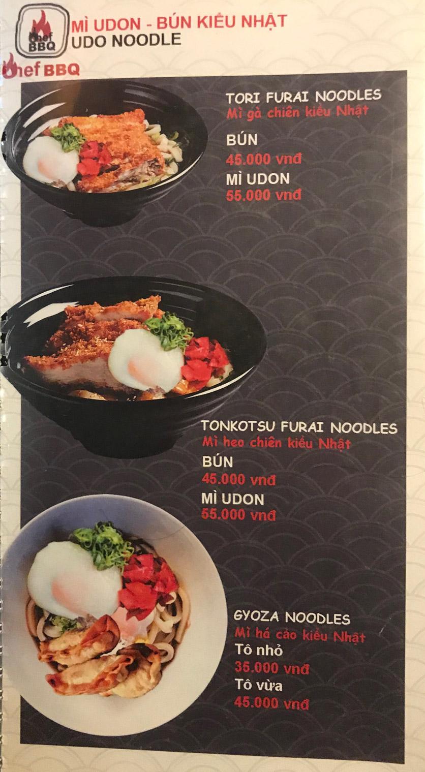 Menu Chef BBQ - Nghĩa Tân 39