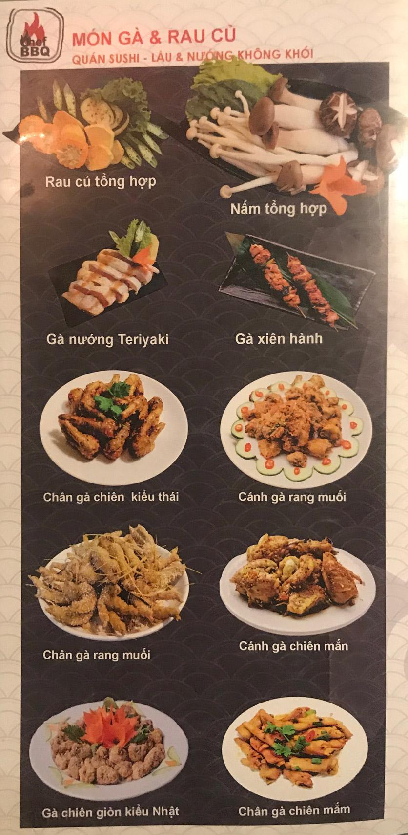 Menu Chef BBQ - Nghĩa Tân 4