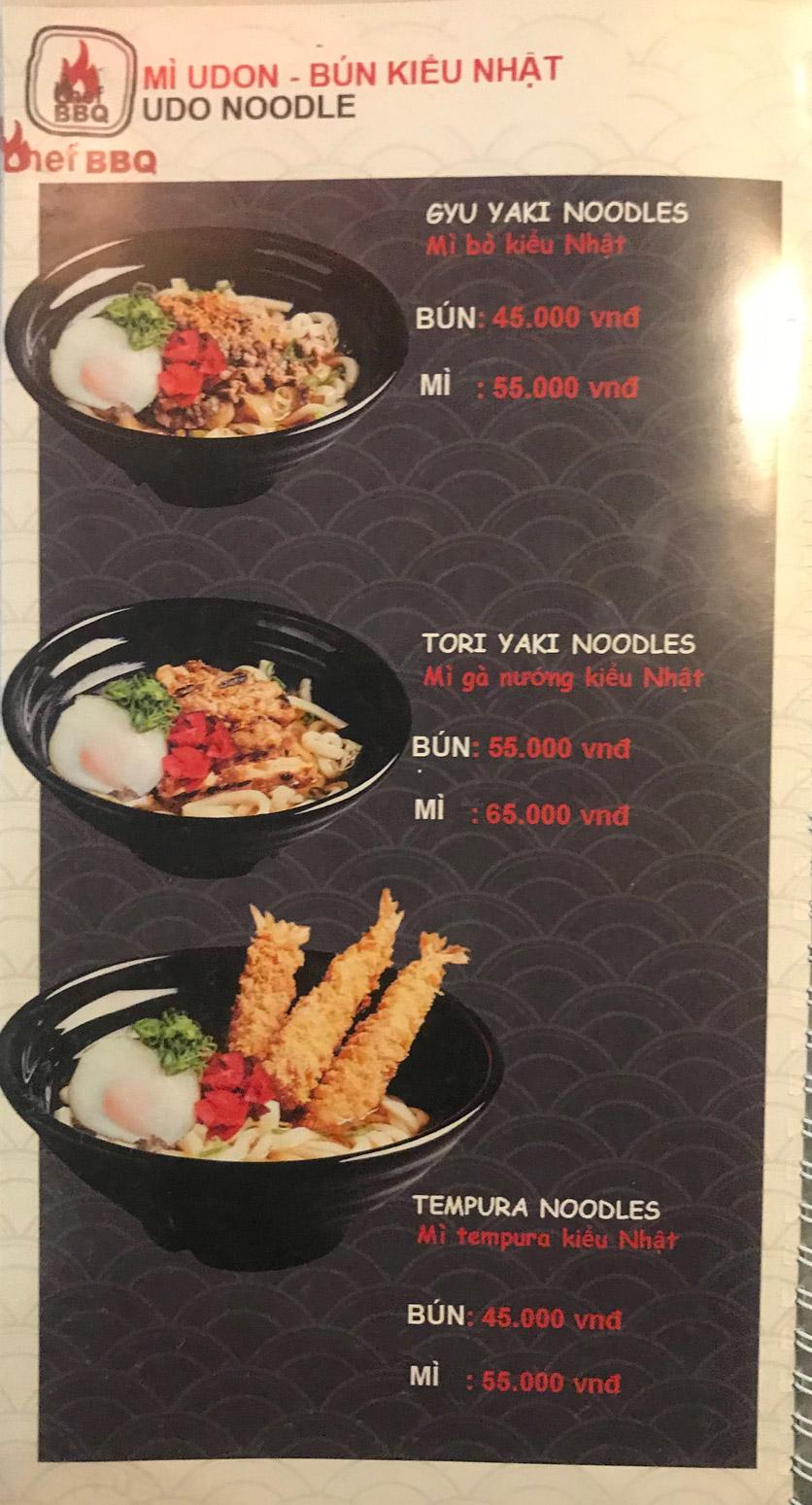 Menu Chef BBQ - Nghĩa Tân 40