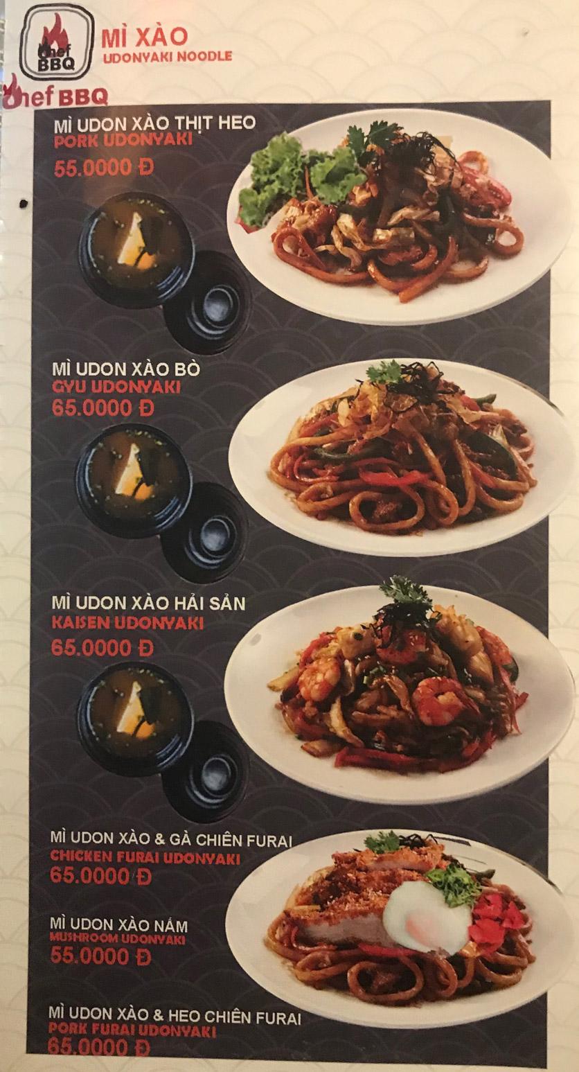 Menu Chef BBQ - Nghĩa Tân 41