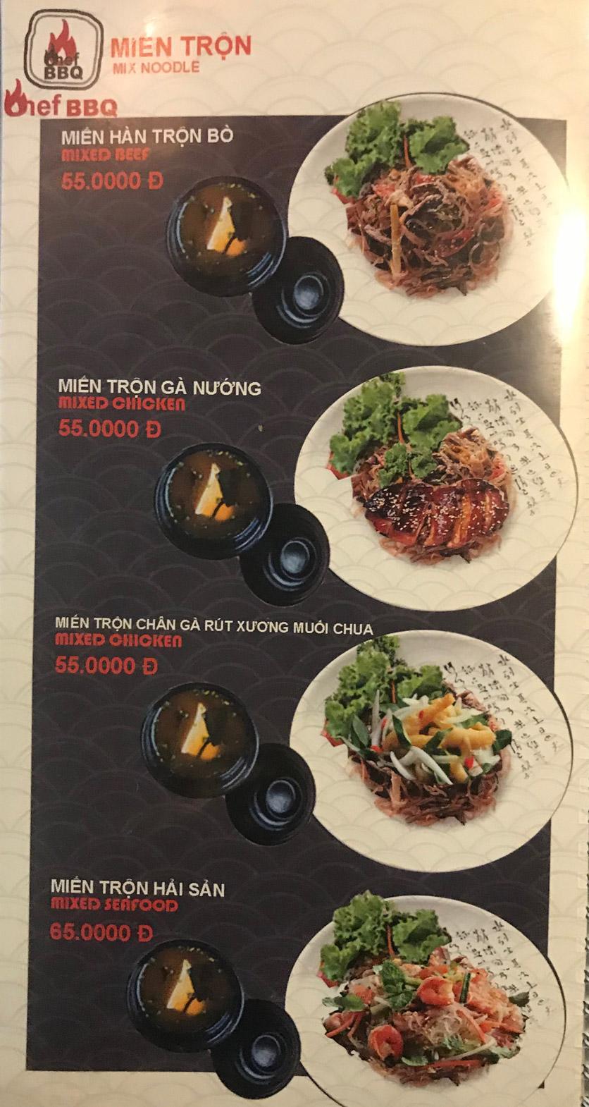 Menu Chef BBQ - Nghĩa Tân 42