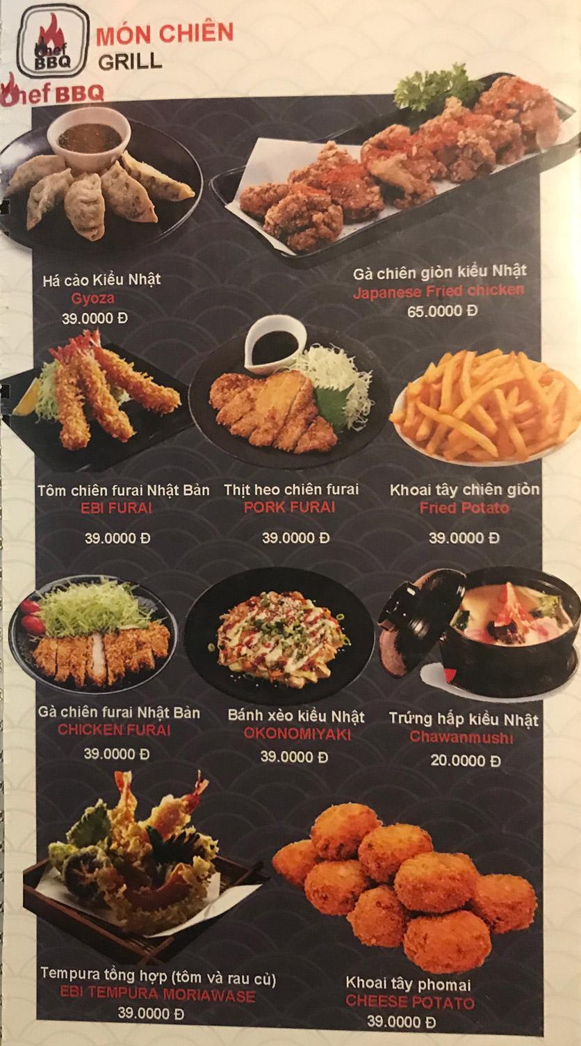 Menu Chef BBQ - Nghĩa Tân 43