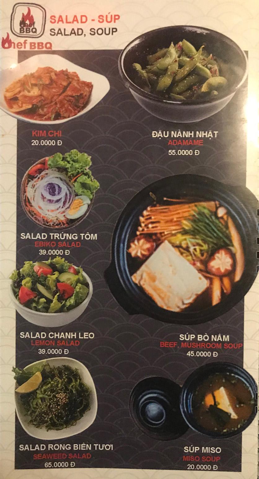 Menu Chef BBQ - Nghĩa Tân 44