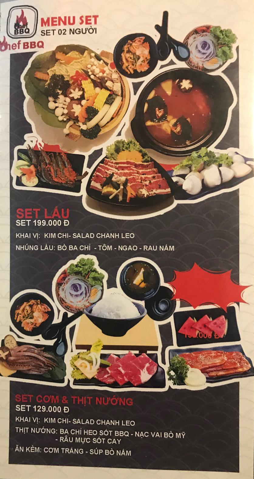 Menu Chef BBQ - Nghĩa Tân 45
