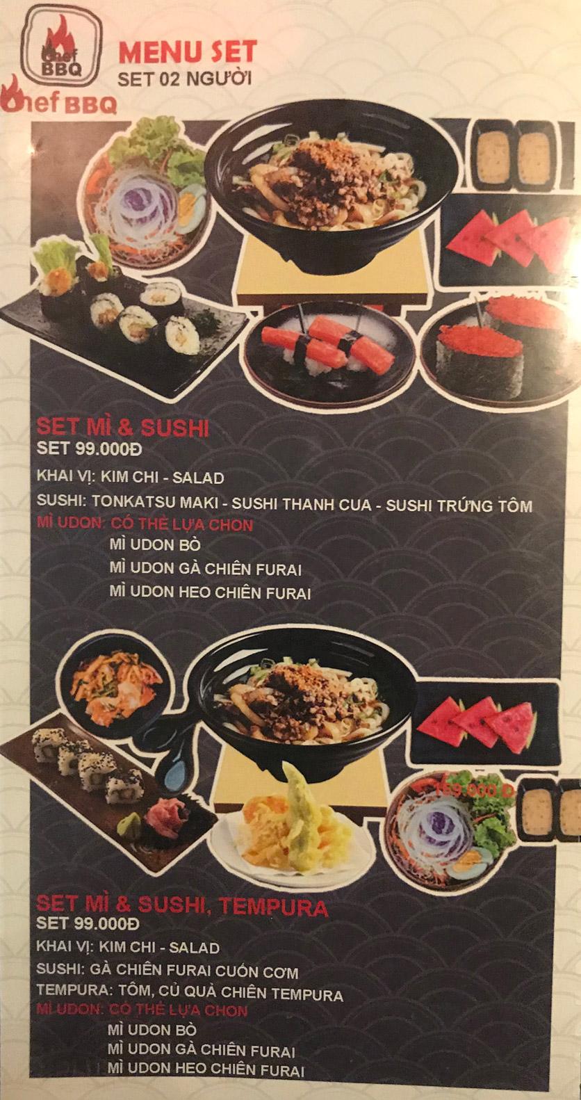 Menu Chef BBQ - Nghĩa Tân 46