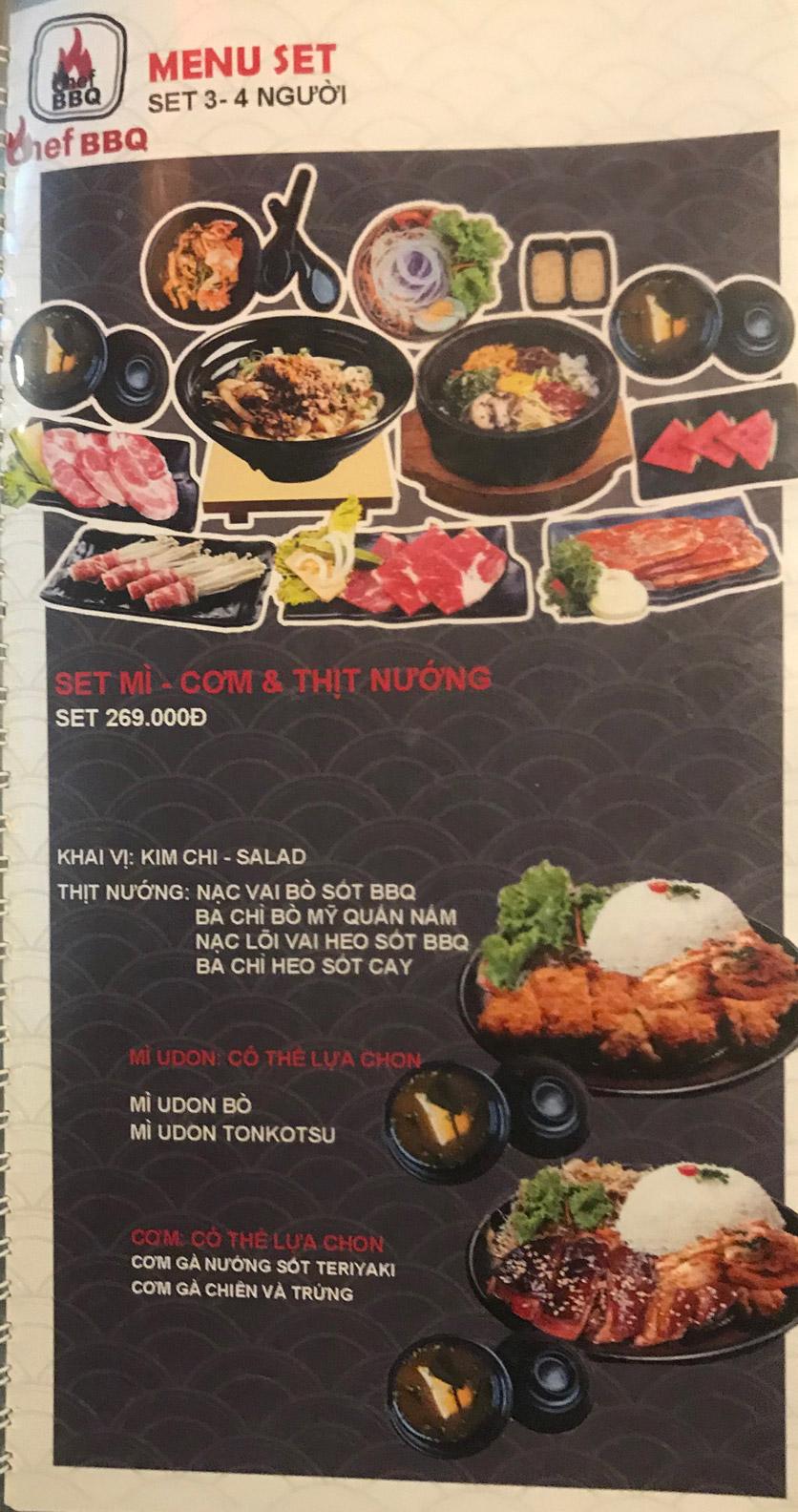 Menu Chef BBQ - Nghĩa Tân 47