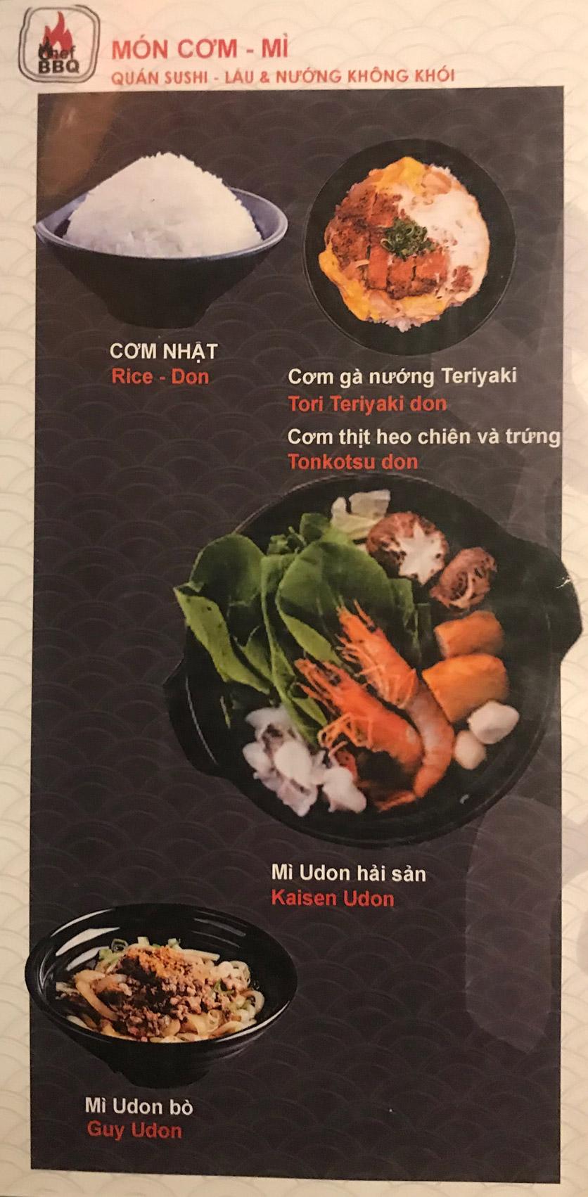 Menu Chef BBQ - Nghĩa Tân 8